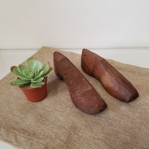Vintage Wood Pair of Child Size Cobbler Shoe Forms